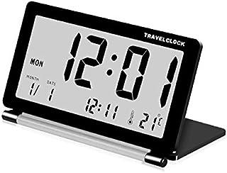New Home Appliance AQ-141 Electronic Alarm Clock Travel Clock Multifunction LCD Large Screen Folding Desk Clock, Random Co...