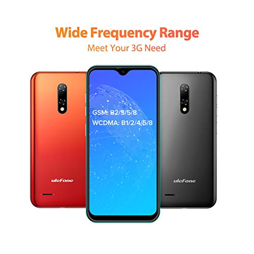 "Teléfono Móvil Libre, Ulefone Note 8 Android 10 3G Smartphone Libre, 2GB RAM 16GB ROM (128GB SD) Smartphone, Pantalla 5.5"" Water-Drop Screen Movil, 5MP + 2MP + 2MP, Dual SIM, Face ID, GPS (Verde)"