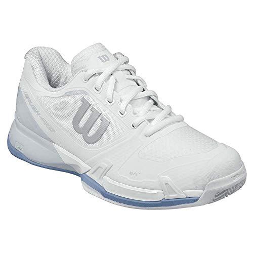 Wilson Rush Pro 2.5 Clay W, Zapatillas de Tenis Mujer, Blanco (White/Pearl Blue/Stonewash 000), 37 EU