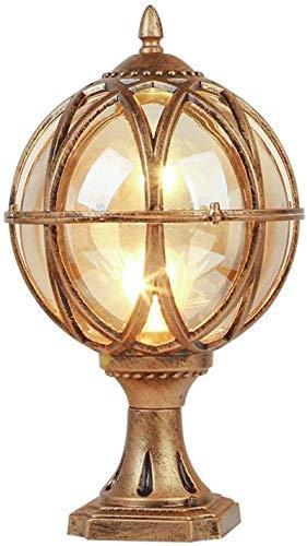 Lámpara industrial, Victoria tradicional antiguo de latón de latón linterna de cristal de la pared de la pared del pilar de las luces del jardín de la puerta del jardín al aire libre de la columna imp