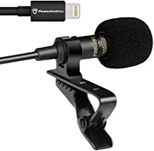 PowerDeWise Lavalier Microphone,iPhone Mic, Compatible with iPhone 7, 7 Plus, 8, 8 Plus, X, XR, XS, XS Max, 11, 11 Pro, 11 Pro Max