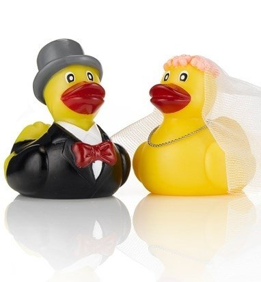 Alandra Party Mr and Mrs Duck Geschenkbox-Set