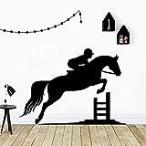 wZUN Montar a Caballo Familia Mural Artista decoración del hogar Sala de Estar habitación de los niños Arte de la Pared Pegatina Mural 33X46cm