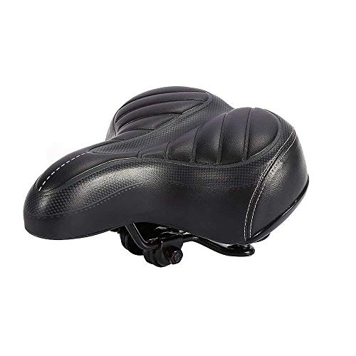 Outingstarcase Asiento de la bicicleta suave sillín cómodo asiento de la bicicleta adecuado for las mujeres de los hombres de ruta for bicicletas de montaña o bicicleta de carretera (Color: Negro, tam
