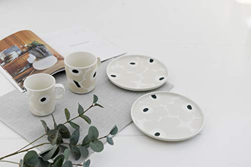 marimekkoUNIKKOマグカップ(ホワイト×ベージュ×ダークグリーン花(83),250ml)