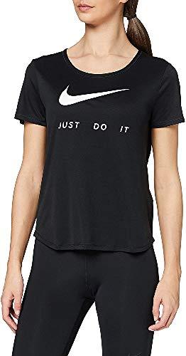 NIKE W Nk Top SS Swsh Run Camiseta de Manga Corta, Mujer, Limelight/(White), L