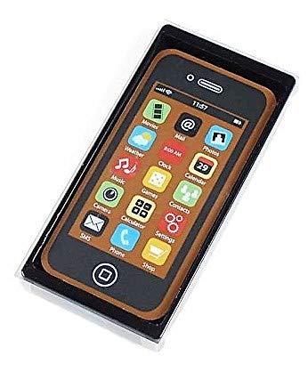 Weibler Confiserie Chocolaterie Estuche con teléfono móvil para smartphone en chocolate con leche - 1 x 40 gramos