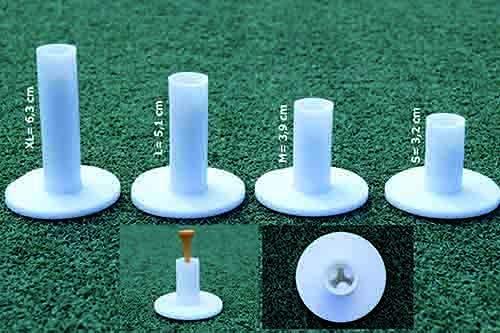 koenig-tom Lot de 4 tees de golf en caoutchouc pour entraînement en hiver Blanc