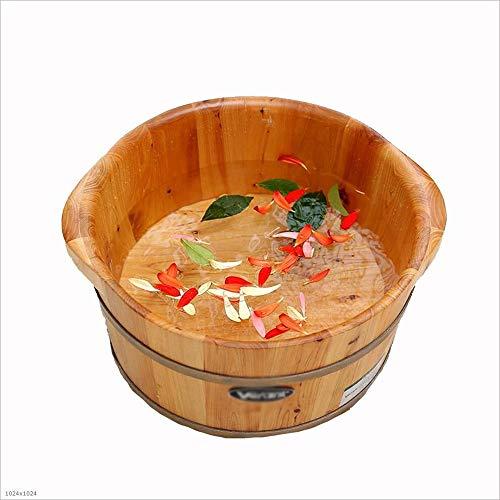 MODYL massief houten zwembad 21 cm hoog voetbad volwassenen kind oud huishouden kan vermoeidheid verlichten stimuleren menselijke doorbloeding cederhout voetemmer