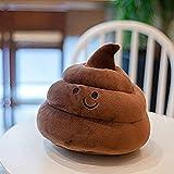 Pzpgeq Almohada Creativa para Caca, Taburete de Peluche, muñeca Emoji, cojín para sofá, Parodia Infantil, Regalo de cumpleaños (Color: marrón, tamaño: 25 cm) (Color: Blanco, tamaño: 25 cm)