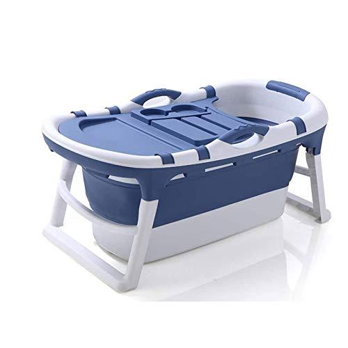 Adesign El bebé Plegable de la Tina de baño Puede ser Utilizado como un reclinable Inicio Gran Piscina Cubo de baño Cubo de niños Bañera (Color : Blue, Size : A)