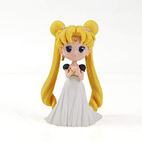 Guiping 13 cm 4 estilos de dibujos animados anime marinero luna tsukino princesa figura de acción coleccionable modelo juguetes muñeca regalos (color: B)