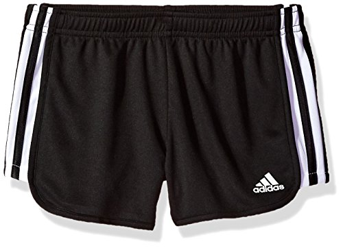 adidas Girls' Big Athletic Shorts, Black, Medium