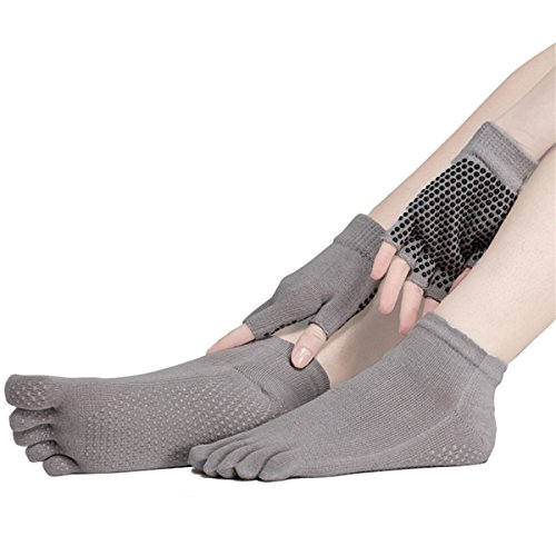SANIQUEEN.G Mujer Deportes Yoga Pilates Calcetines y Guantes Conjunto,...