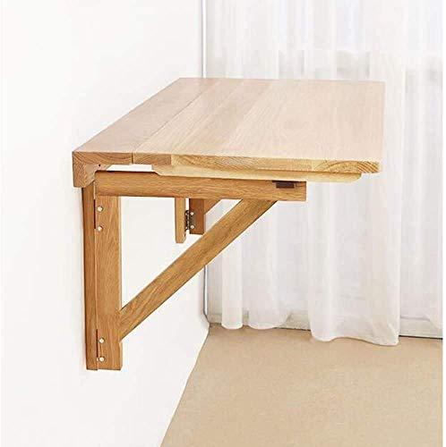 Nest Of Tables Mesa de centro blanca Mesas auxiliares Mesa para computadora portátil Escritorio plegable de madera maciza Comedor Estudio Montado en la pared 2 tamaños (Tamaño, 70 * 40 cm), 60 * 40 cm