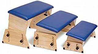 Sammons Preston Adjustable Benches, Size Small, Padded Therapy Bench, Angled Seats for Physical and Occupational Therapy, Tilted Surface Stool for Exercise and Positioning, Feet on The Floor
