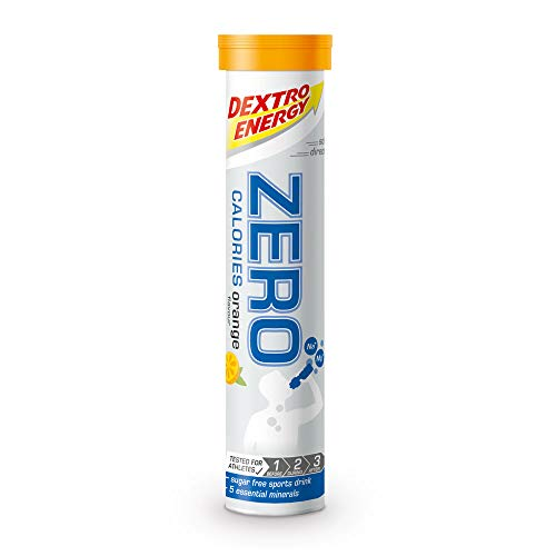 Elektrolyte Sport tabletten Dextro Energy | 12x20 Elektrolyt tabletten | Orange Smaak | Zero Calorie Drink | Minerale tabletten | Vegan & suikervrij