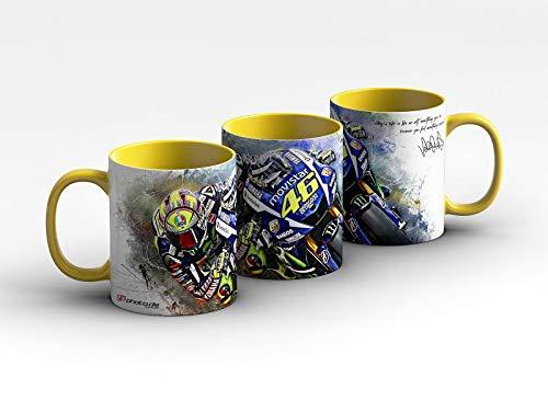 GP-poto.de Kaffeebecher Valentino Rossi | Barcelona Hang Off | Tasse | Kaffeetasse | Kaffeepott