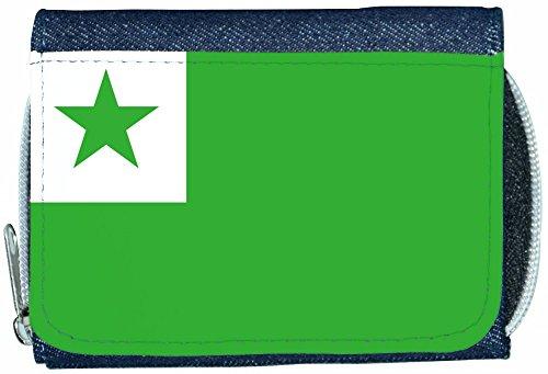 Esperanto Flag Denim Wallet (Apparel)