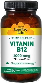 COUNTRY LIFE Vitamins Vitamin B-12,1000 MCG,TR, 60 TAB