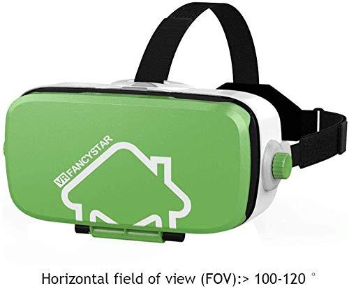 HengYue Nuevos Auriculares VR Realidad Virtual Gafas VR Pantalla Completa para Teléfono Inteligente 5.4.7-6.0 Pulgadas Soporte Android Win E iOS Adecuado para iPhone Samsung Series