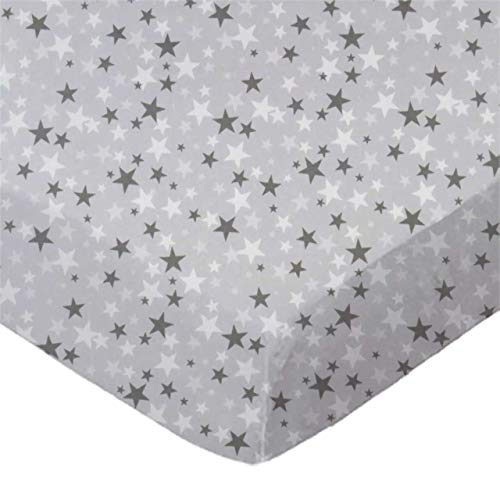 Review SheetWorld Fitted 100% Cotton Percale Pack N Play Sheet Fits Graco Square Play Yard 36 x 36, Primary Stars White On Navy Woven, Made in USA