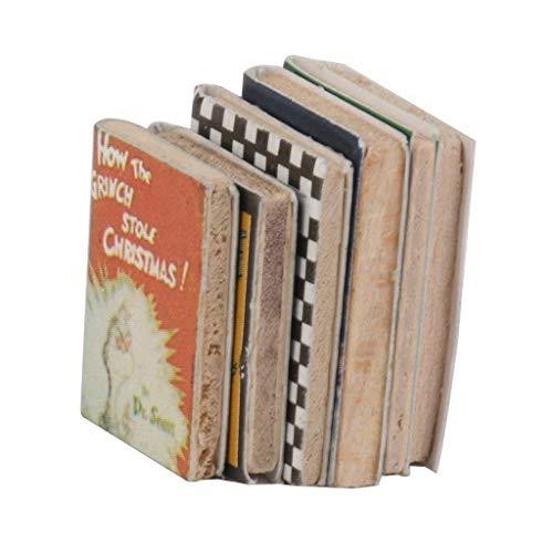 Naisicatar 01.12 Puppenhaus Miniatur Ornament Bücher für Deko-Set von 6Pcs Interessantem Spielzeug