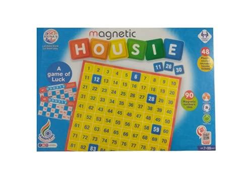 Bagathon India Magnetic Housie Tambola Bingo Board Game for Indoor Family Fun