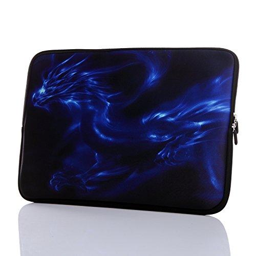 13.3-Inch to 14-Inch Laptop Neoprene Sleeve Case with Hidden Handle for 12.9 13 13.3 14 14.1' Inch Men Women Ultrabook/Chromebook/Tablet/Netbook (13.3-14 Inch, Blue Dragon)