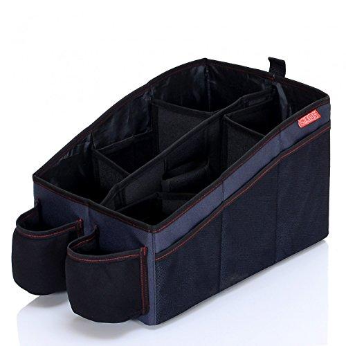 LCP XL Auto Organizer – Als Kofferraum Organizer oder als Faltbare Autotasche für Frontsitze und Rückbank – Einfache Montage