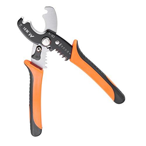 SANON Pelacables, herramienta de pelado profesional de alambre pelacables cortador de pelacables, alicates de mano para electricista