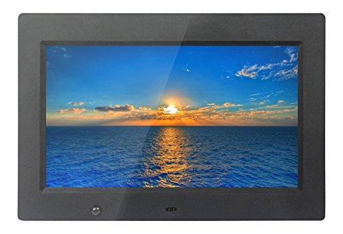 Xoro DPF 10B1 Digitaler Bilderrahmen 25,6 cm (10,1 Zoll) TFT-Display (16:9, SD/SDHC/MMC/MS Pro, USB 2.0, Diashow, Video-Wiedergabe, bewegungssensor, Fernbedienung) schwarz