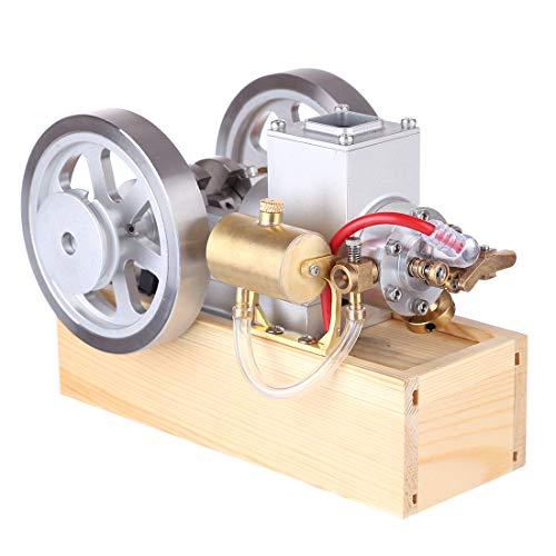 FADF Hit and Miss Motor, Horizontaler Motor Bausatz Metall, Wassergekühlt Benzin Motor Modell mit Handstart