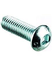 4mm Tornillos de Cabeza de Botón / Tornillos (20 Paquetes) M4 x 25mm A2 Acero Inoxidable Enchufe Llave Allen Curvado Cabezal Tornillo
