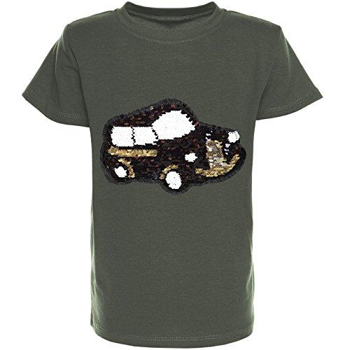 BEZLIT Jungen T-Shirt Wende-Pailletten Kurzarm Sommer Polo Shirt 21364 Grün Größe 152