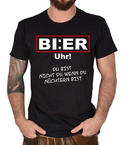 Mannen T-shirt spreuken shirt bier klok grappig shirt Leiberl grappig fun grappige spreuk man bedrukt herenshirt