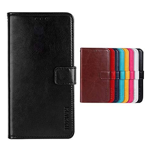 SHIEID Hülle für TP-LINK Neffos C5 Plus Hülle Brieftasche Handyhülle Tasche Leder Flip Hülle Brieftasche Etui Schutzhülle für TP-LINK Neffos C5 Plus(Schwarz)