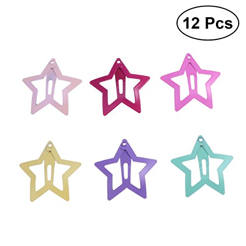 Frcolor 12pcs estrellas preciosas pinzas de pelo Barrettes accesorios para el cabello para bebés niñas