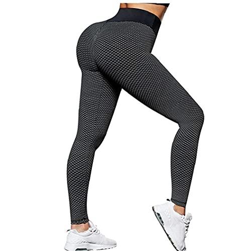 nJiaMe Yoga Pantalones Mujeres de la Gimnasia de Las Polainas Medias Corrientes de los Deportes de la Cadera de elevación de la Alta Cintura Casual Pantalones Negro M