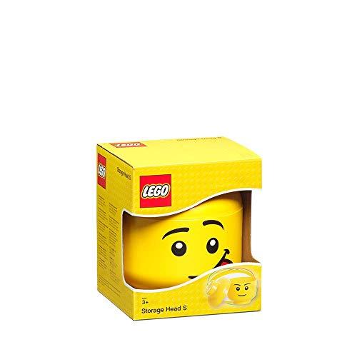 lego classic giallo LEGO Scatola Testa Ragazzo Porta Oggetti Piccola Impilabile