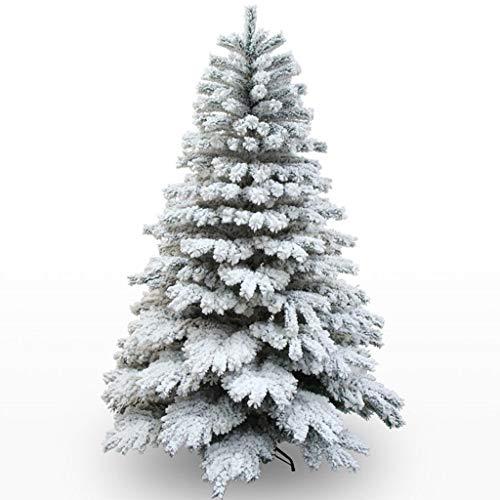 TMY 210cm de Nieve Adicción Colgando árbol de Navidad 2.1m en Abanico del árbol de Navidad Centro Comercial la decoración del hogar de algodón Flocado
