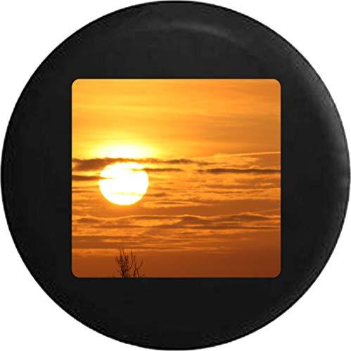 Hokdny Cubiertas De Neumáticos para Rueda De Repuesto Amanecer Atardecer Cielo Dorado Nubes A Prueba De Polvo, Impermeable, Protección Solar Y Protección contra La Corrosión.