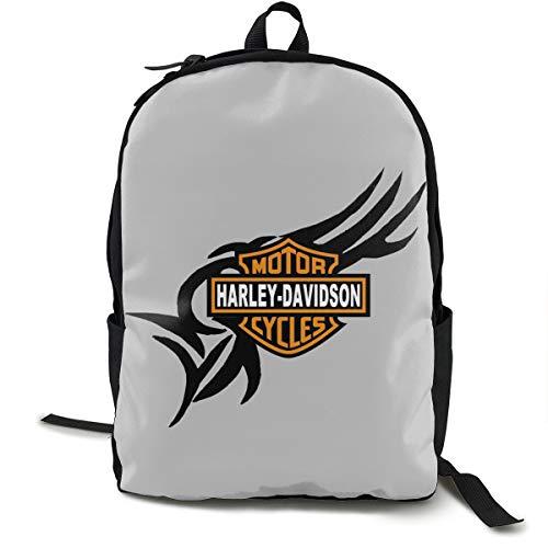 Harley Davidson Mochila, Daypack mochila para escuela, trabajo y universidad, mochila deportiva y mochila escolar, con compartimento para portátil y respaldo acolchado
