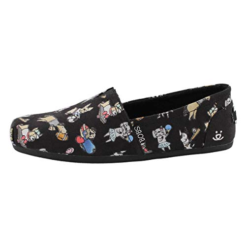 Skechers Women's Bobs Plush Go Fetch Casual Slip On Shoe Black 8 Medium US