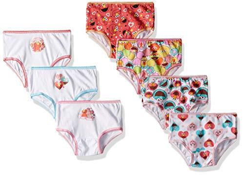 Sesame Street Girls' Toddler 7-Pack, sesame multi-7, 4T