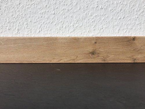 Sockelleisten mit Nut in Eiche cottage | Fußleisten mit MDF-Kern | Fußbodenleisten in den Maßen 2,4m x 5,8cm | Wandabschlussleiste mit Clipfräsung & geradem Abschluss | MADE IN GERMANY