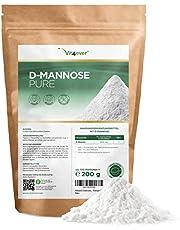 D-mannose-poeder, 200 g, (3,3 maanden voorraad, laboratoriumgetest, puur en natuurlijk, zonder toevoegingen, natuurlijk, veganistisch