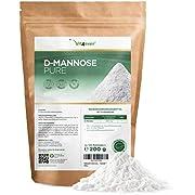 D-Mannose Pulver - 200 g - (3,3 Monate Vorrat) - Laborgeprüft - Rein & naturbelassen - Ohne Zusätze - Natürlich - Vegan