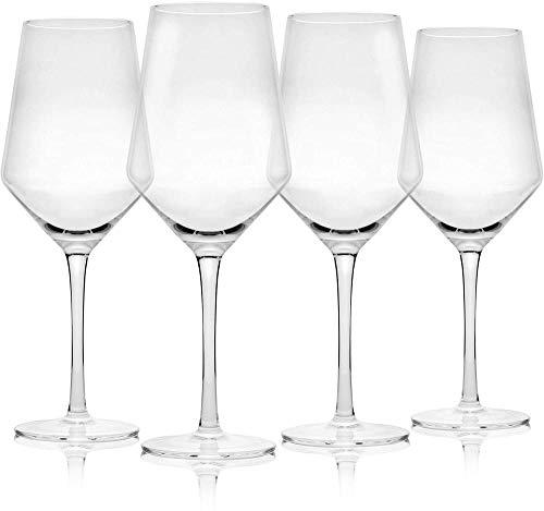 Juego de 4 copas de vino |Copas de vino grandes |Apto para lavavajillas |Copas de vino tinto tradicionales |Juego de copa de vino |Set de utensilios para bar