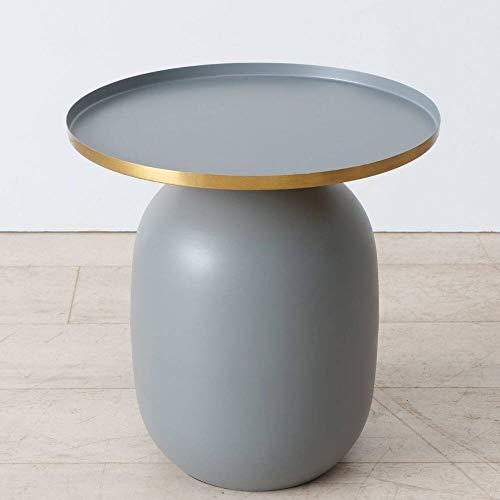 Toesco - Mesa auxiliar, color gris mate
